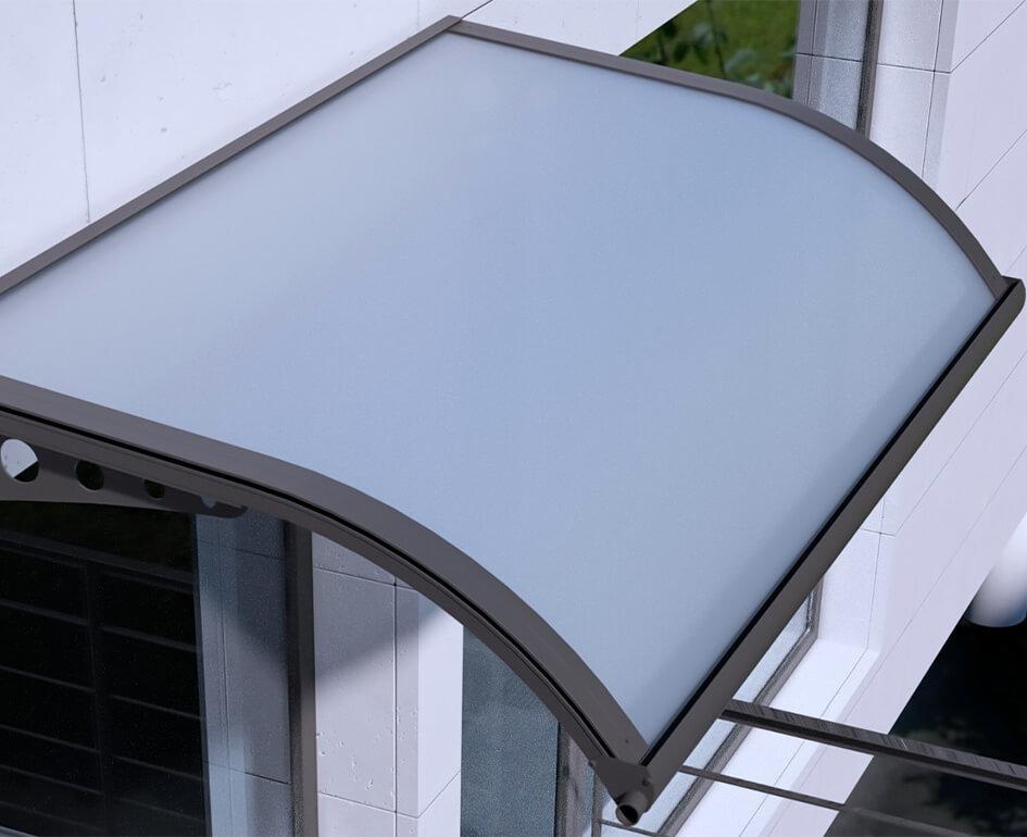 pensiline moderne alluminio e policarbonato